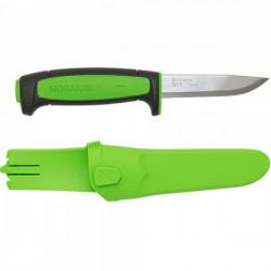 Нож Morakniv Basic 511 2019 edition углеродистая сталь, пласт. ручка (черная) зел. вставка